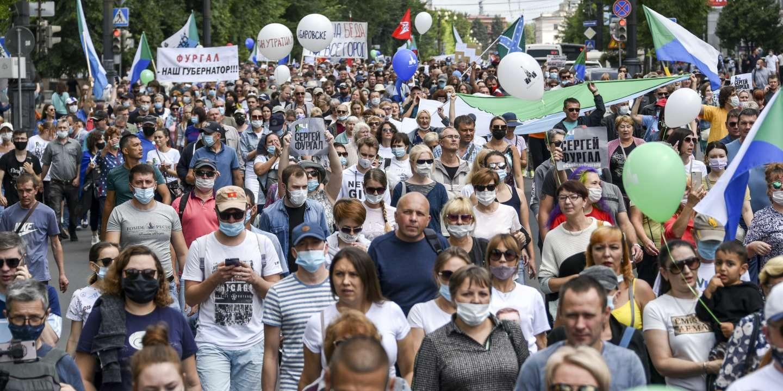 Russie : nouveau défilé à Khabarovsk pour protester contre l'arrestation du gouverneur