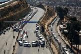 Un barrage routier à El Alto, en Bolivie, lundi 10 août.