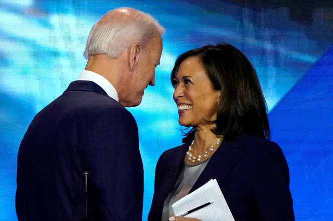 Les candidats démocrates, Joe Biden et Kamala Harris lors du troisième débat présidentiel, à Houston (Texas), le 12 septembre.