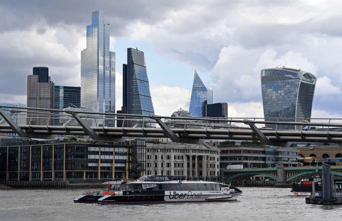 Vue de la City, le principal quartier financier de Londres, le 3 août.