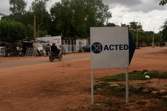 L'entrée du bureau d'Acted à Niamey, le 10août 2020.