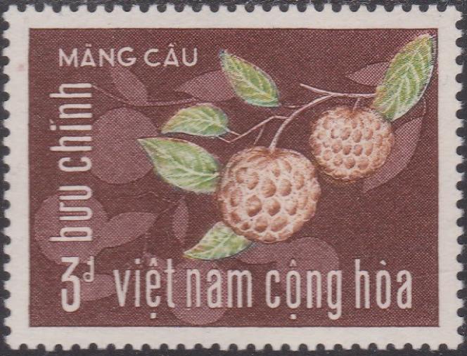 Timbre dessiné et gravé en taille-douce par Yves Beaujard pour le Vietnam du Sud, paru en janvier 1967.