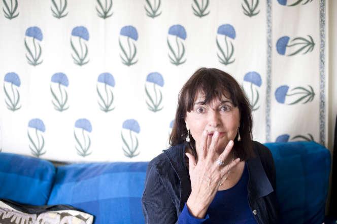 L'historienne Arlette Farge, chez elle, en 2009.