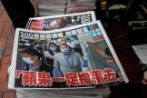 L'arrestation dupatron de presse Jimmy Lai fait la «une» de son journal, mardi 11 août.