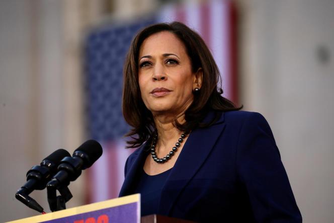 La sénatrice Kamala Harris à l'annonce de sa candidature, à Oakland (Californie), le 27 janvier 2019.