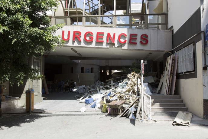 L'entrée des urgences de l'hôpital des Sœurs du Rosaire, à Beyrouth, le 8 août.