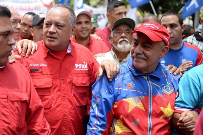 Dario Viva (à droite) en août 2017, à Caracas.
