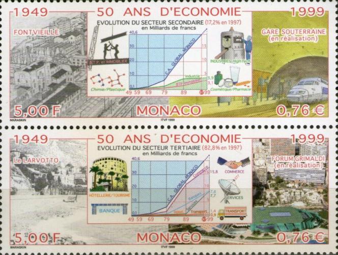 Les premiers timbres de David Maraskin pour Monaco (1999).