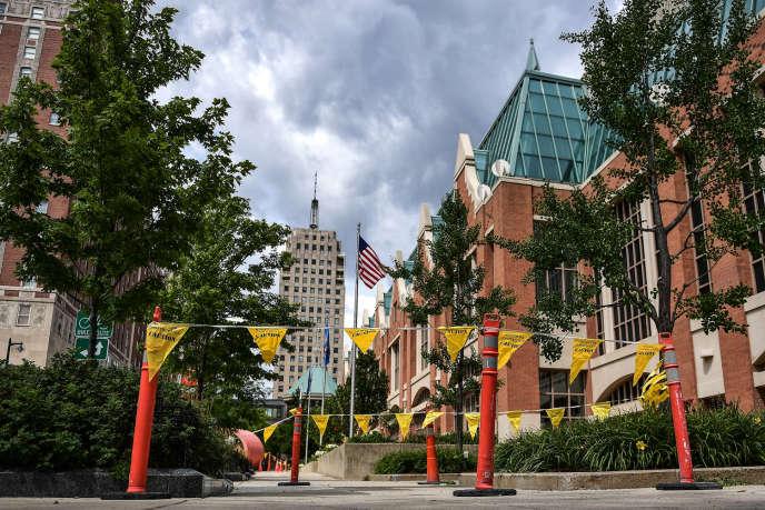 Le Wisconsin Center, centre de congrès et d'expositions, à Milwaukee, le 5 août 2020.