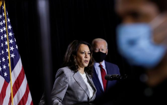 La candidate à la vice-présidence Kamala Harris et le candidat démocrate Joe Biden, à Wilmington (Delaware), le 13 août.