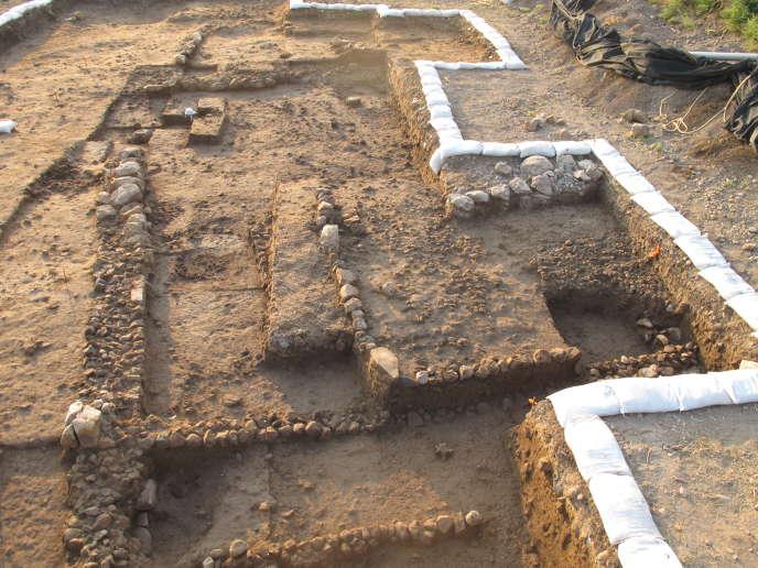 Vue des fouilles à Beisamoun (nord d'Israël).