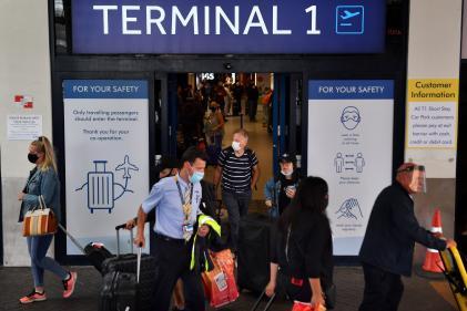 A l'aéroport de Manchester (Royaume-Uni), le 27 juillet.
