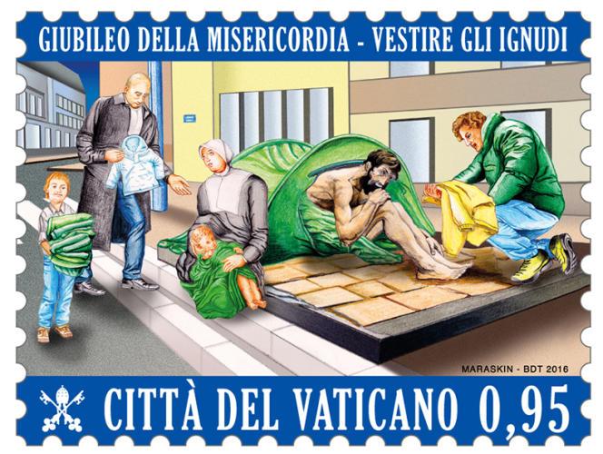 Jubilé de la Miséricorde. Dessin de David Maraskin pour la Cité du Vatican (2016).