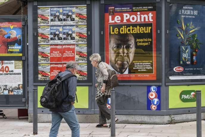 Un kiosque, à Valence, le 30 mai 2018.