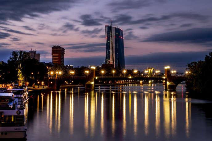 Le siège de la Banque centrale européenne, sur le Main, le 21 juillet à Francfort (Allemagne).