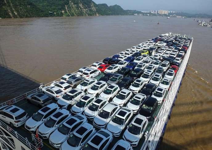 Sur le fleuve Yangtsé (Chine), le 2 août.