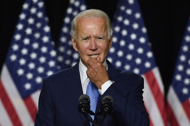 Le candidat démocrate Joe Biden, le 12 août àWilmington (Delaware).
