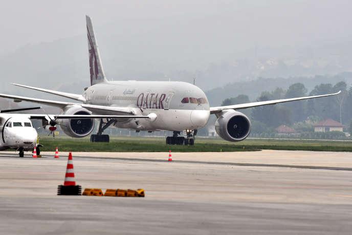 Un Boeing de Qatar Airways, le 19 mai 2020.