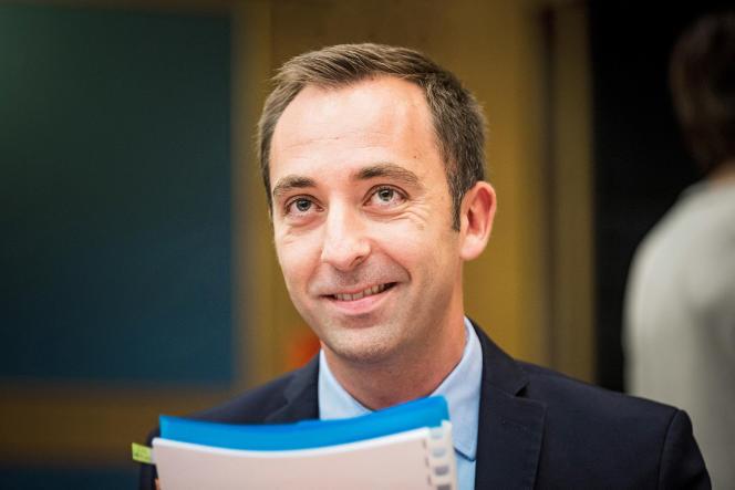 Jean-Marie Girier avant son audition devant les sénateurs, le 30 juillet 2018, à propos de l'affaire Benalla.