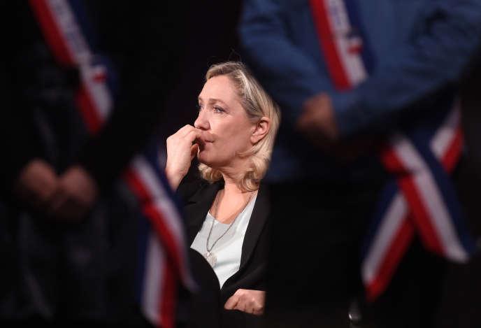 La présidente du Rassemblement national (RN), Marine Le Pen, à Hénin-Beaumont (Pas-de-Calais), le 26 janvier.