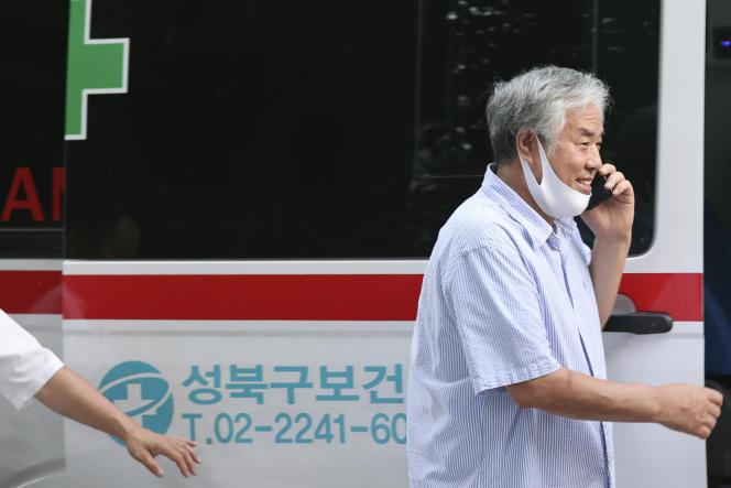 Le leader de l'Eglise évangélique Sarang Jeil,Cheon Guan-hung, à Séoul, lundi 17 août 2020.