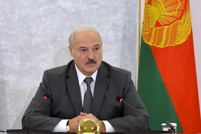 Le président biélorusse, Alexandre Loukachenko, à Minsk, le 19 août 2020.