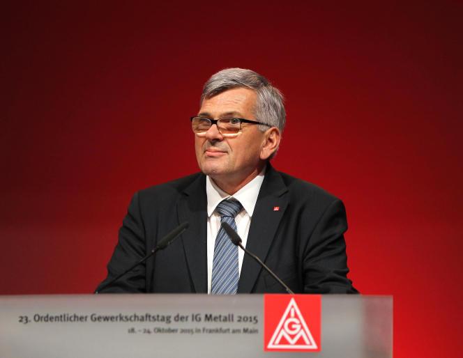 Jörg Hofmann, président du syndicat IG Metall, en 2015.