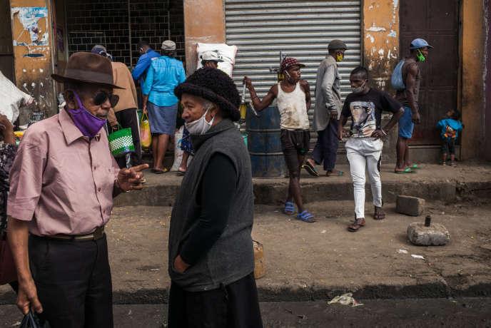 Dans le quartier d'Isotry, à Antananarivo, le 16mai 2020.