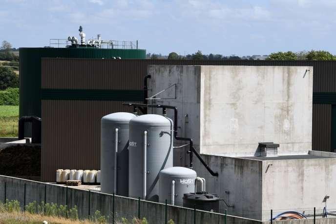 La centrale biogaz de Châteaulin, dans le Finistère, le 20 août 2020.