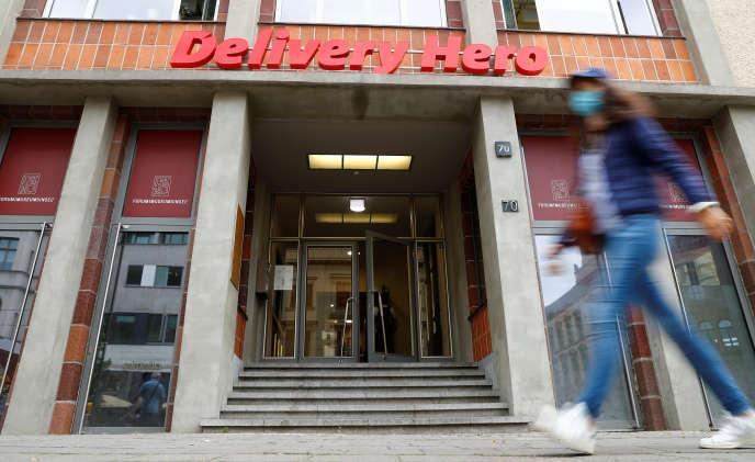 Le siège de Delivery Hero, à Berlin, le 18 août.