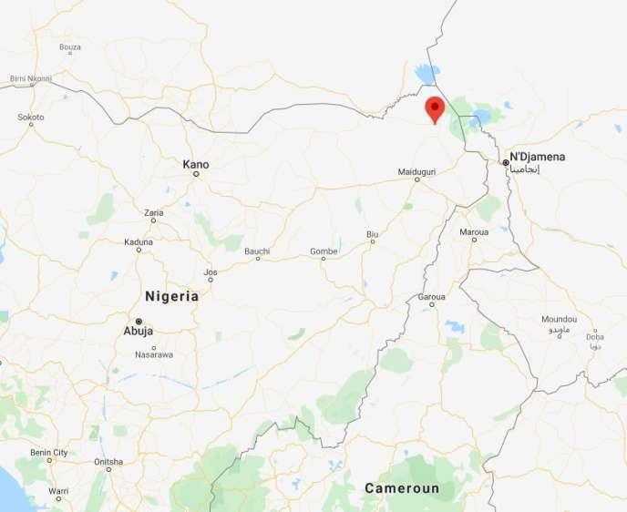 Kukawa se situe dans l'extrême nord-est du Nigeria, dans l'Etat de Borno.