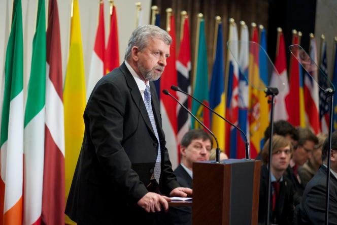 L'opposant biélorusse Alexandre Milinkevitch, le 2 février 2011.