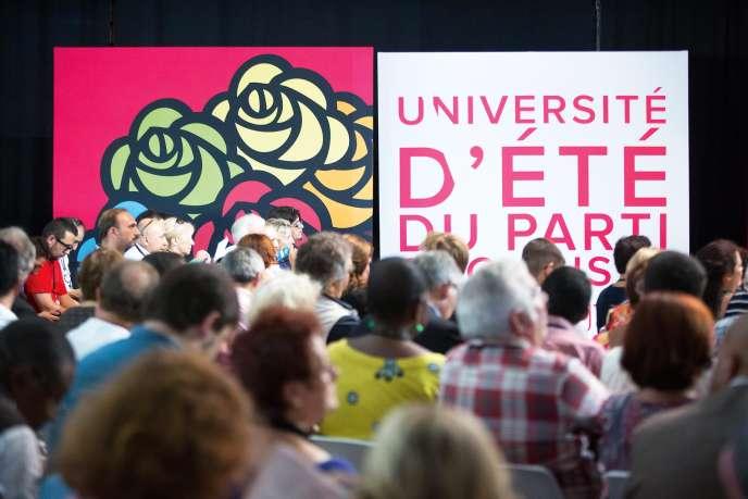 Université d'été du Parti socialiste à La Rochelle, en août 2015.