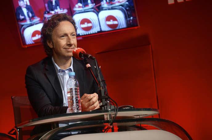 Stéphane Bern, lors de la conférence de presse de rentrée de RTL, en septembre 2014.
