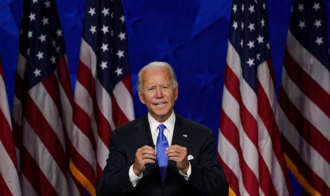 Joe Biden a accepté la nomination des démocrates depuis Wilmington, dans le Delaware, jeudi 20 août.