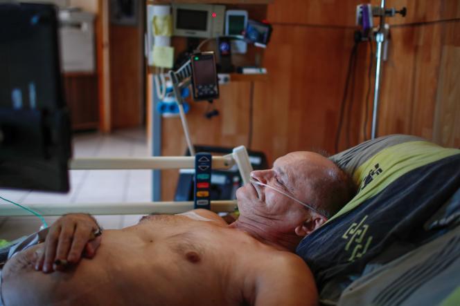 Alain Cocq, 57 ans, à son domicile, à Dijon, le 19 août 2020.