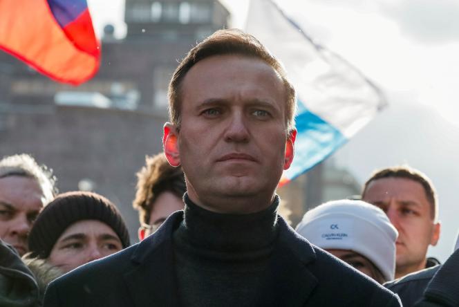 Alexei Navalny participe à un rassemblement pour le 5e anniversaire du meurtre d'un politicien de l'opposition, Boris Nemtsov, à Moscou, le 29 février.