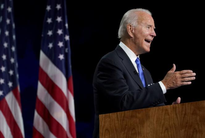 Le candidat démocrate à la présidentielle américaine, Joe Biden, à Wilmington (Delaware), le 20 août 2020.