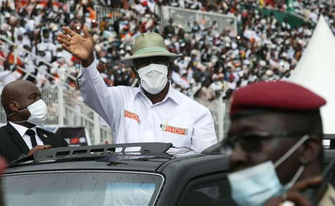 Le président ivoirien Alassane Ouattara, à Abidjan, le 22 août.