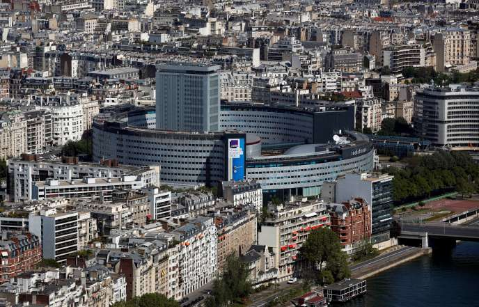 Le siège de Radio France, à Paris, en avril 2020.