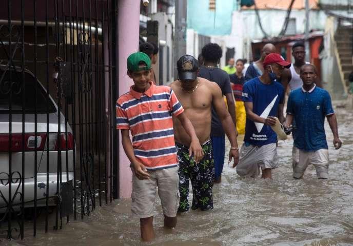 Dans une rue de Santo Domingo, en République dominicaine, le 23 août.