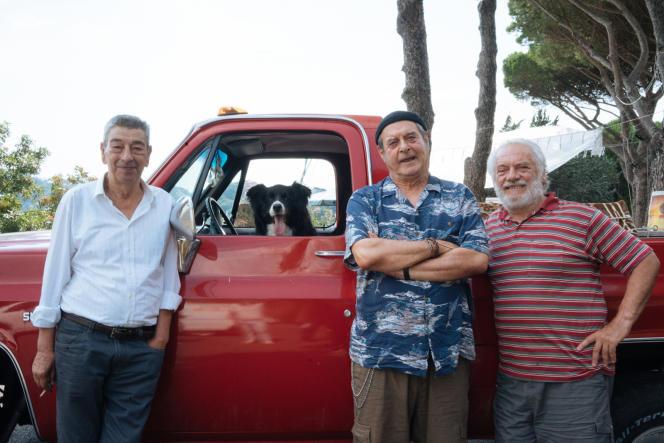 Gianni Di Gregorio (Professore), Ennio Fantastichini (Attilio) et Giorgio Colangeli (Giorgetto) dans «Citoyens du monde».