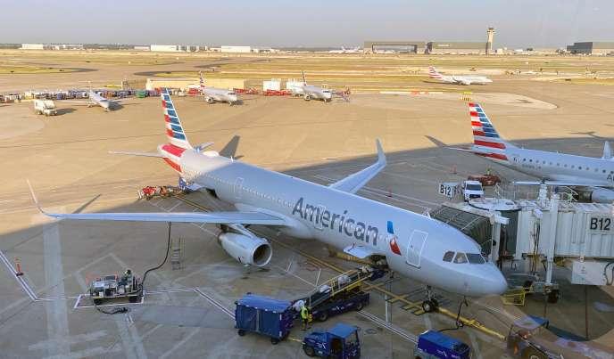 Un appareil d'American Airlines, à l'aéroport international de Dallas (Texas), le 23 août.