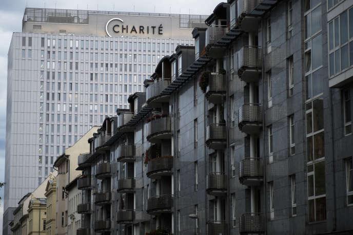 L'hôpital de la Charité, où Alexeï Navalny est soigné, à Berlin, le 24 août.