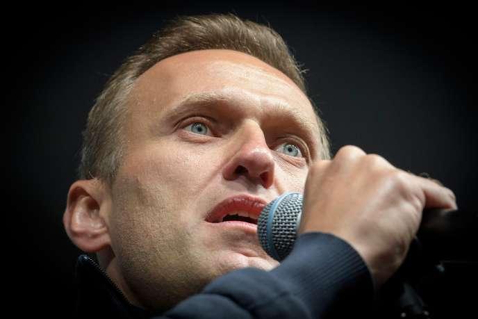 L'opposant russe Alexeï Navalny (ici en septembre 2019), victime d'un empoisonnement et actuellement en soins à l'hôpital de la Charité, à Berlin.