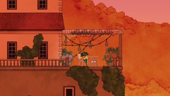 Dans « Spiritfarer», on pourra apprécier la vue sur la terrasse d'un manoir d'inspiration méditerranéenne.