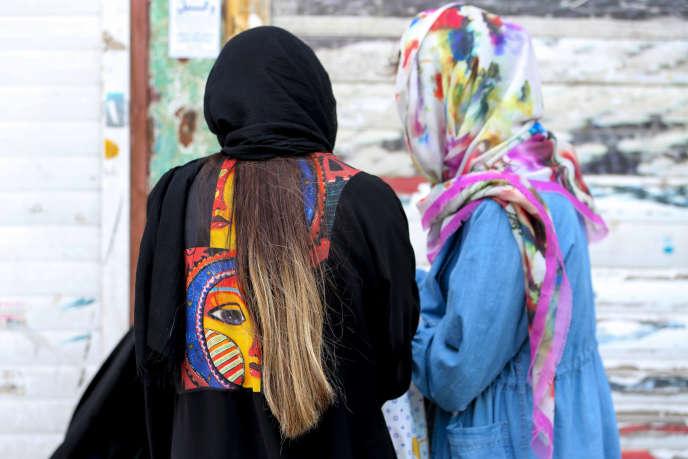 Deux femmes iraniennes dans une rue de Téhéran, le 9 mai.