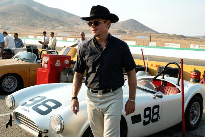 Matt Damon (Carroll Shelby) dans« Le Mans 66», de James Mangold.
