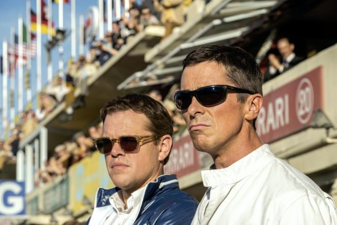 Matt Damon (Carroll Shelby) et Christian Bale (Ken Miles) dans« Le Mans 66», de James Mangold.