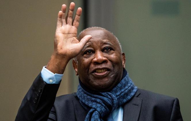 L'ancien président ivoirienLaurent Gbagbo à la Cour pénale internationale (CPI) ) à La Haye, le 6 février 2020.